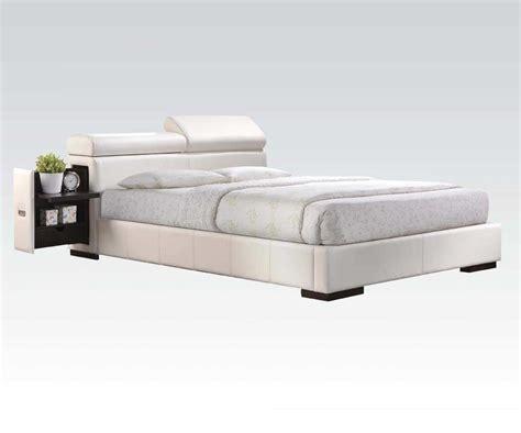 Platform Bed White White Platform Bed Ac 420 Platform Beds