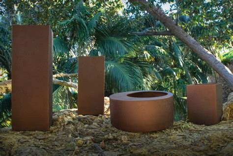 outdoor planters los angeles nature planters in copper contemporary outdoor