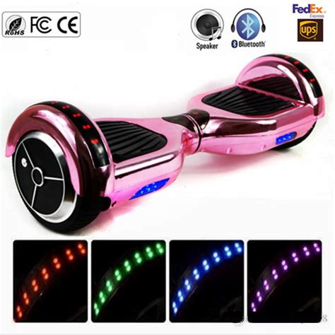 hoverboard bluetooth led lights new chrome pink gold bluetooth hoverboard led lights two