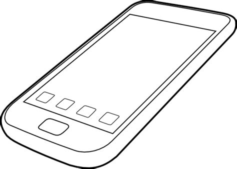 Smartphone By Ocal Clip Art At Clker Com Vector Clip Art Iphone 7 Coloring Pages