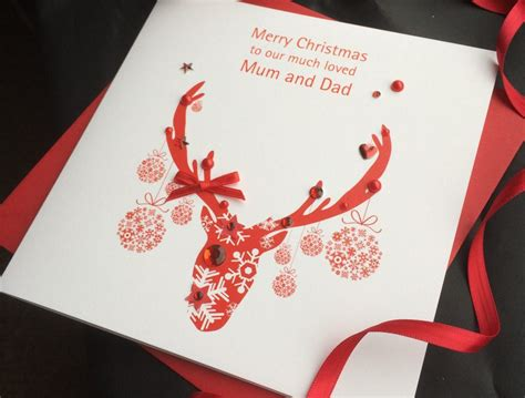 Handmade Reindeer Cards - handmade card reindeer handmade cards pink posh