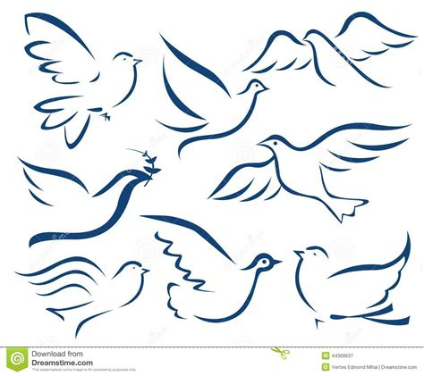 vector dove symbol stock vector image of flying dove