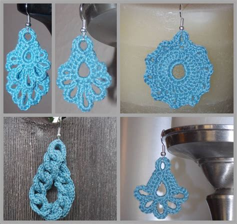 What Do You Think Of These Crocheted Earrings by Earrings Charms Crochet Patterns Layered Scalloped