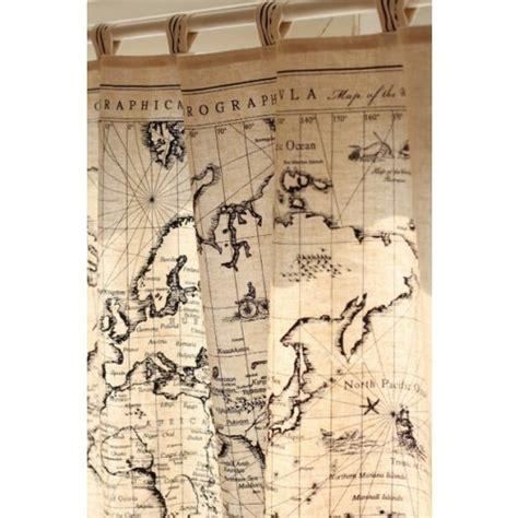 World Atlas Shower Curtain by World Map Curtain