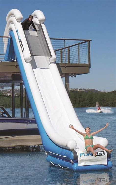 blow up slide for pontoon boat best 20 inflatable slide ideas on pinterest pontoon