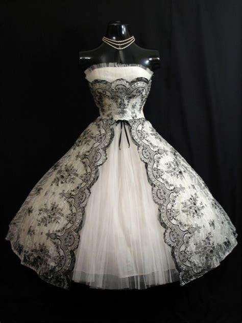Black And White Vintage Dress discount vintage 1950s black white wedding dresses 2016 a line strapless plus size