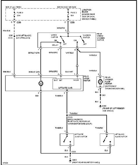1998 jeep rear wiper wiring diagrams wiring diagrams