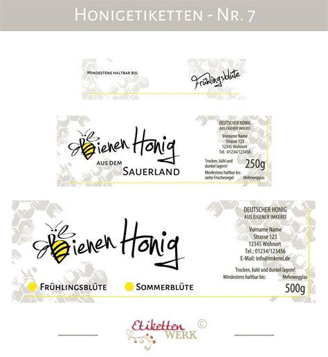 Beschriftung Honigglas honigetiketten design f 252 r honig honigglasetiketten