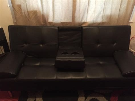 black cinema style sofa bed walsall dudley