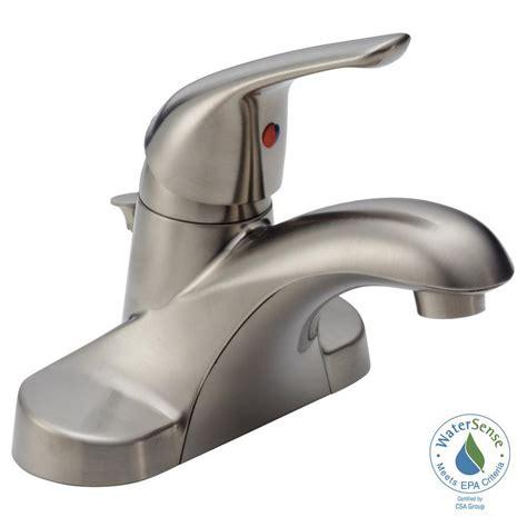 elite 57201bn luxury short brushed nickel single handle delta brushed nickel single handle bathroom faucet