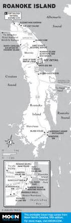 map of roanoke island carolina