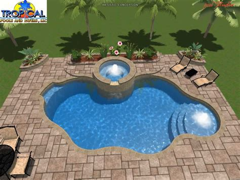 Modern Designer Kitchens by Professional 3d Pool Design Tropical Pools And Pavers