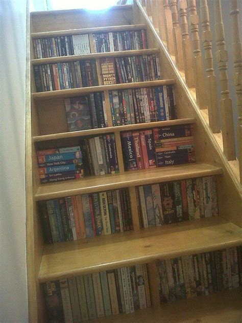 staircase bookshelves stairs bookcase dream home library office pinterest