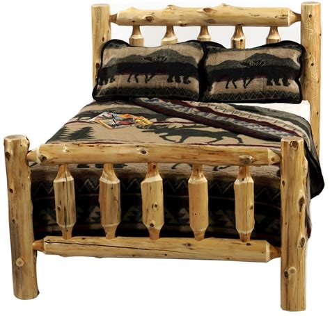 The Original Cedar Log Bed Minnesota Log Furniture Store Log Bed