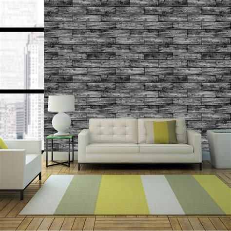 wood wall mural wood panel pattern wallpaper mural faux washed effect wall decor r226