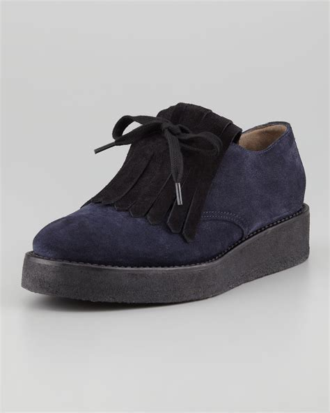 marni oxford shoes marni suede kilty oxford cishoes