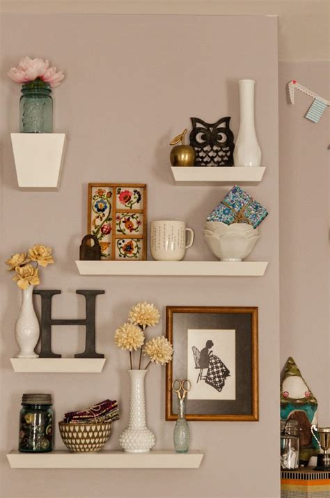 how to decorate a wall shelf cute shelves for the home pinterest