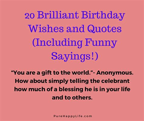 Sayings To Put In Birthday Cards 20 Brilliant Birthday Wishes And Quotes Including Funny
