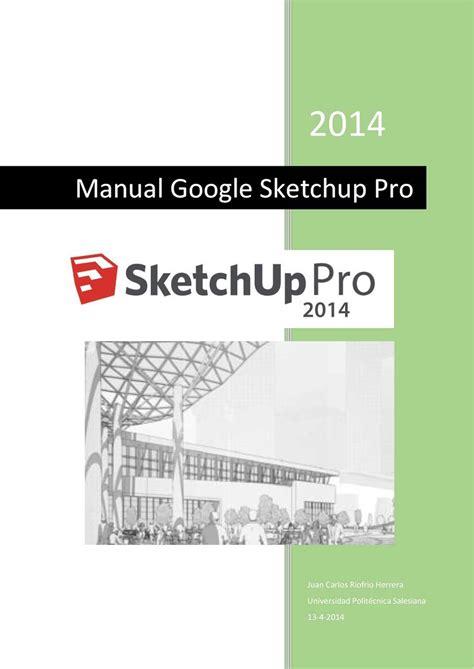 tutorial google sketchup pro 2014 calam 233 o manual rapido google sketchup 2014pro