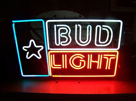 bud light light up sign bud light flag of texas neon sign 29 quot x18 quot good old sign