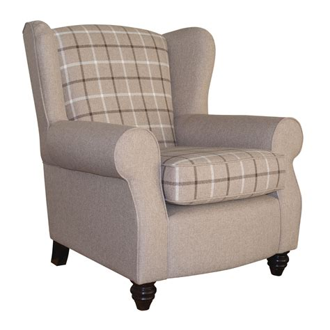 Next Armchairs by Salcetti Fabric Wingback Armchair Next Day Delivery