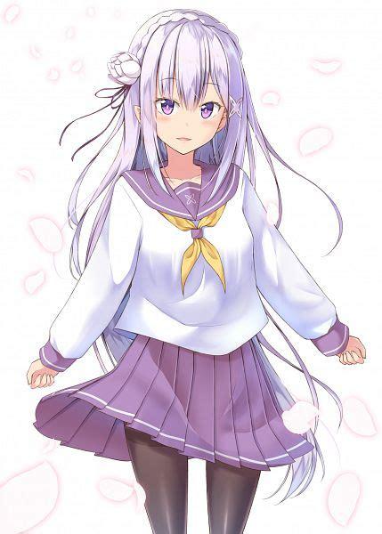 Kaos Anime Re Zero Kara Emilia emilia re zero re zero kara hajimeru isekai seikatsu mobile wallpaper 2025168 zerochan
