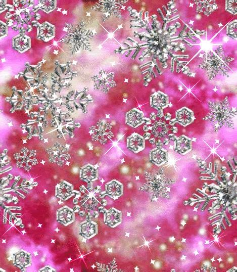 pink glitter snowflakes winter pinterest