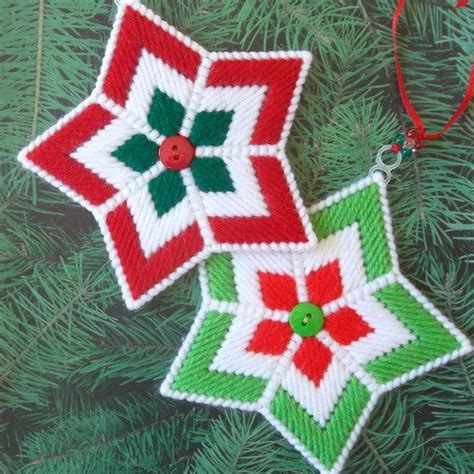southwest christmas ornaments plastic canvas plastic canvas ornaments quot quot set of 2 by readysetsewbyevie on etsy