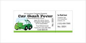 car wash tickets templates free ticket templates 99 free word excel pdf psd eps