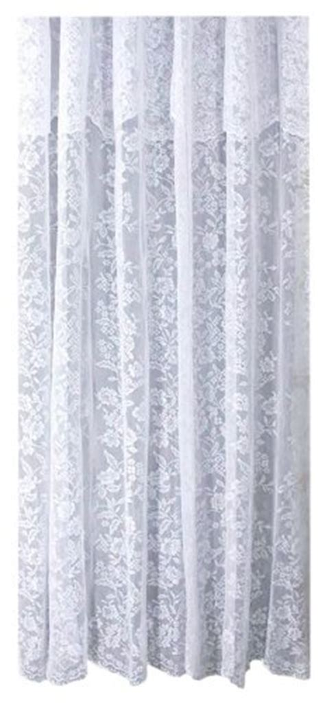 white lace shower curtain with valance ricardo romance lace white lace fabric shower curtain with