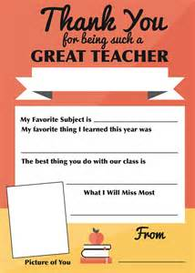free templates for teachers thank you to teachers free printable gift a family