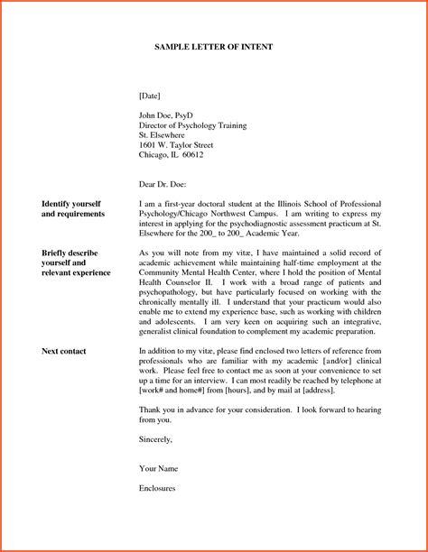 letter of intent teaching job sample lv crelegant com