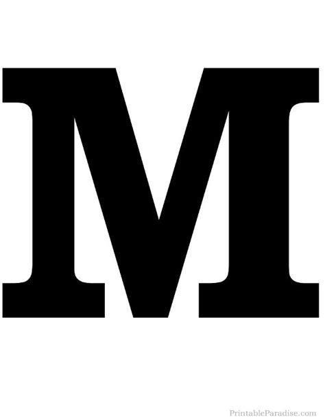 Printable Solid Black Letter M Silhouette | Miscellaneous ... M