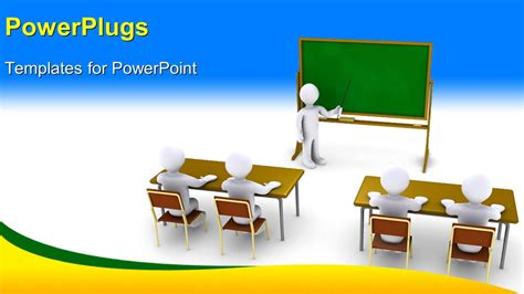 Powerpoint Template 3d Characters Of A Teacher Teaching Pupils In A Class Room 5273 Powerpoint Templates For Students
