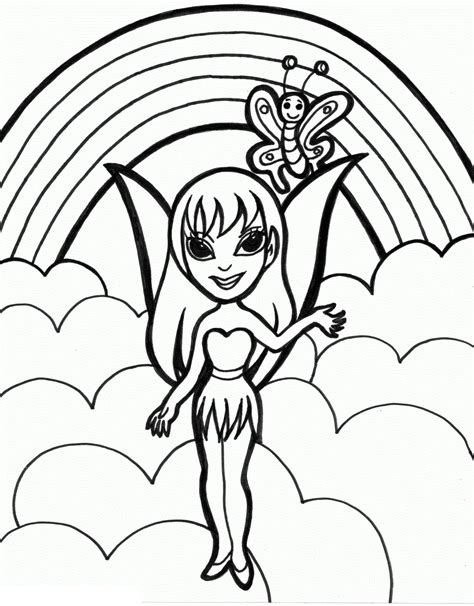Rainbow Fairies Coloring Pages Free Printable Rainbow Coloring Pages For Kids by Rainbow Fairies Coloring Pages