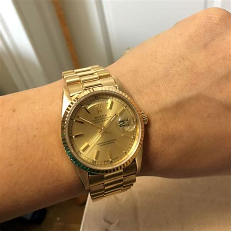 golden rolex rolex president day date 18k gold all gold rolex price