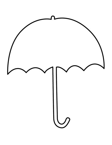 umbrella template umbrella templates printable clipart best