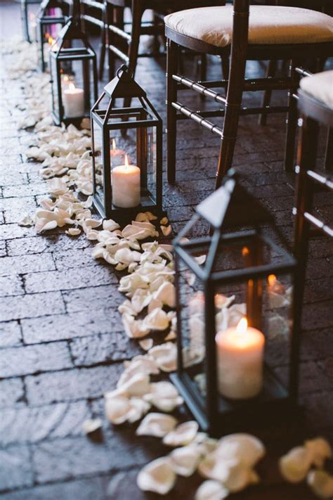 Wedding Aisle With Lanterns by Wedding Ideas 30 Ways To Use Candles For Your Big