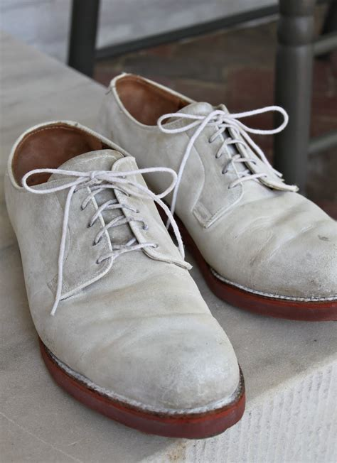 bucks shoes white bucks laced suede or buckskin shoes with a sole