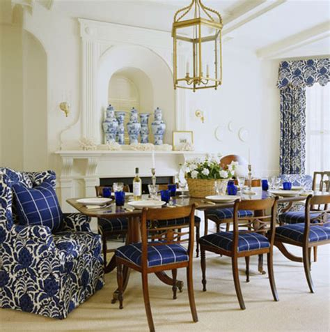 Blue And White Dining Room by Blue And White Rooms