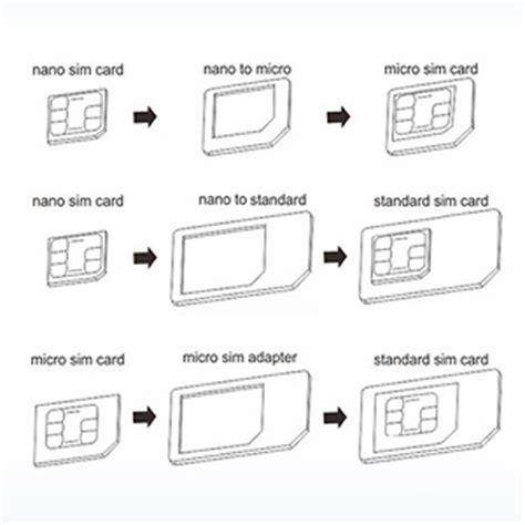 sim card to micro sd template portable 3pc sim card adapter with nano sim card microsd