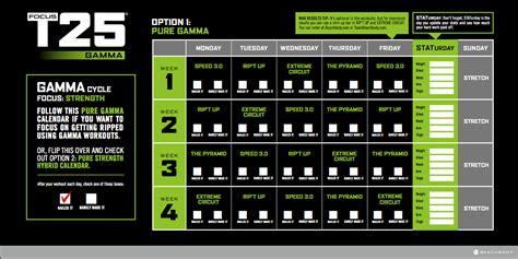 Beta T25 Calendar The Focus T25 Workout Calendar Team Eternal Fit