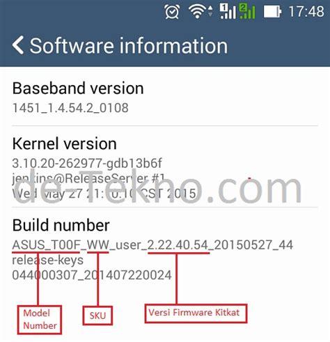 Hp Asus Versi Lollipop asus lollipop upgrade cek versi firmware kitkat de tekno