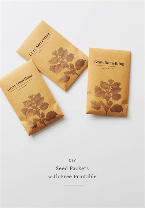 How To Make Paper Packets - diy seed packets with free printable almost makes