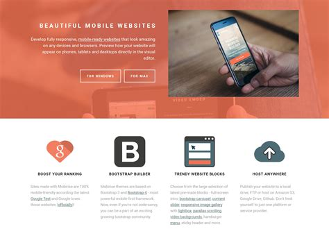 web website responsive mobile website builder