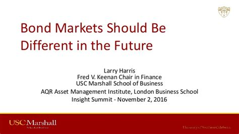 Linkedin Usc Marshall Mba Class Of 2019 by Bond Markets Should Be Different In The Future