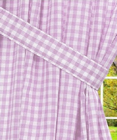Light Purple Curtains Light Purple Gingham Check Window Curtain Available In Many Lengths And With Or Without