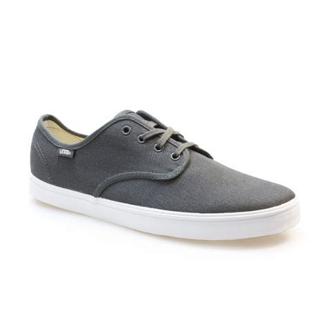 vans madero grey black canvas mens skate shoes sneakers