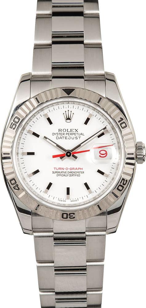 Rolex White rolex thunderbird datejust 116264 white