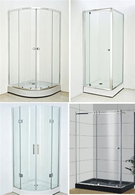 standing shower doors pivot aluminum frameless glass shower enclosure free
